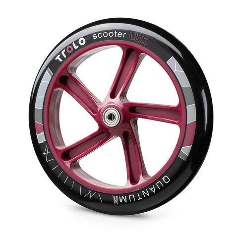 Колесо с подшипником Trolo Quantum  230 мм красное