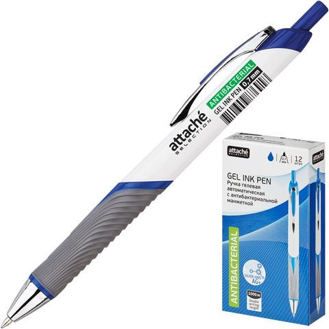Ручка гелевая автоматическая Attache Selection синяя (толщина линии 0.7 мм)