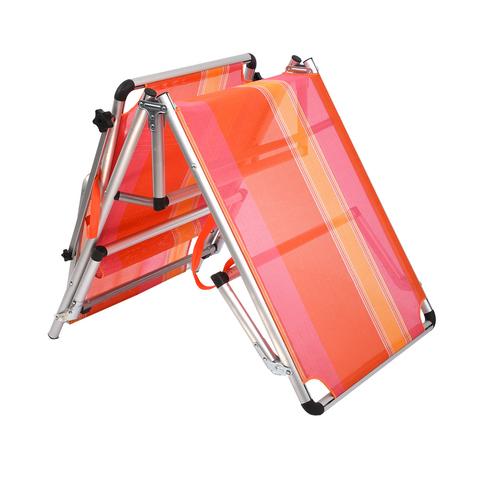 Шезлонг 4 положения, алюминиевый каркас, 189x59x28 см, 5,2 кг