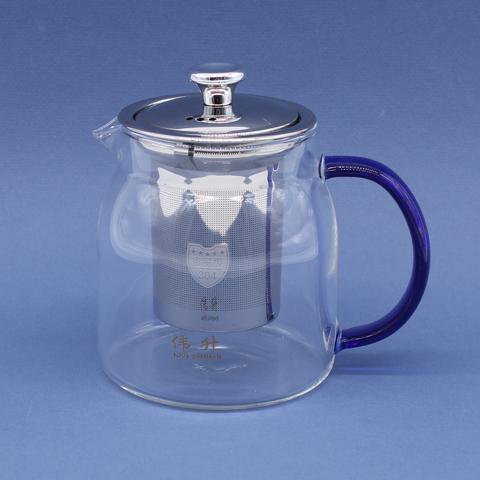 Чайник стекляный с металлическим ситом, 500мл