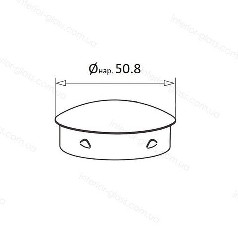 Заглушка для трубы D=50,8 мм ST-439