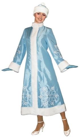 Костюм Снегурочки Снежинка голубой