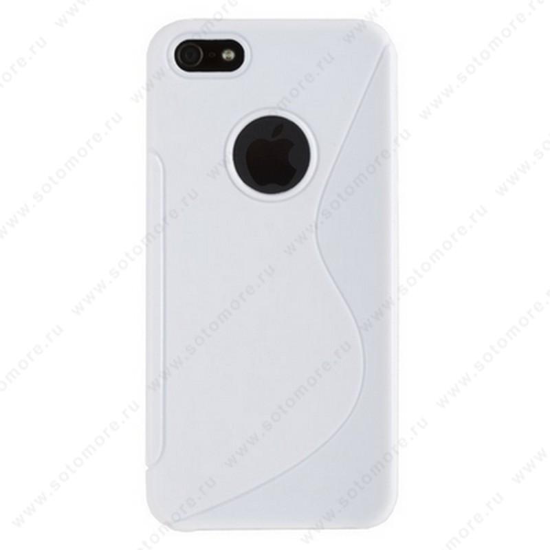 Накладка силиконовый для Apple iPhone SE/ 5s/ 5C/ 5 жесткий белый