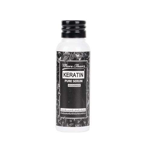 Концентрированная натуральная cыворотка для выпрямления волос с Кератином и Керамидами MoreThan Keratin Pure Serum Essence, 25 мл.