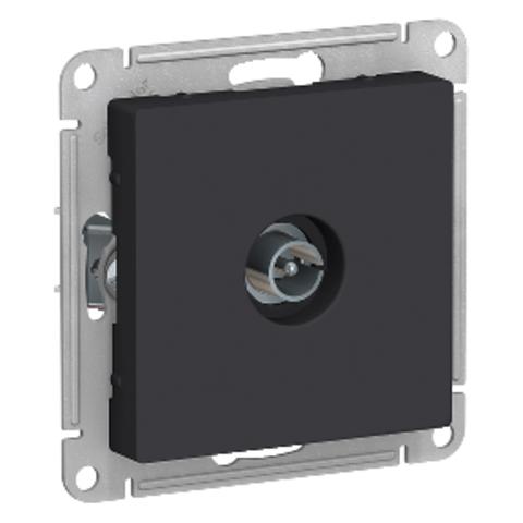 Антенна TV коннектор. Цвет Карбон. Schneider Electric AtlasDesign. ATN001093