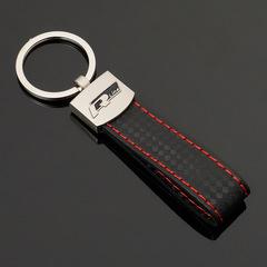 Брелок Ауди Р лайн (Audi  R-line) для ключей автомобиля с логотипом, черный