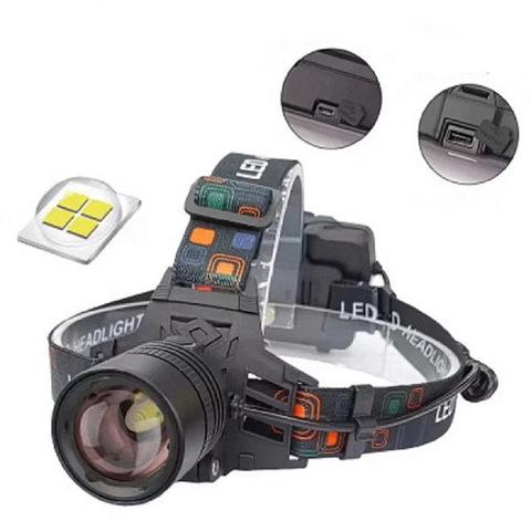 Ф.налобный WD117-P50, zoom, 2x18650, ЗУ microUSB