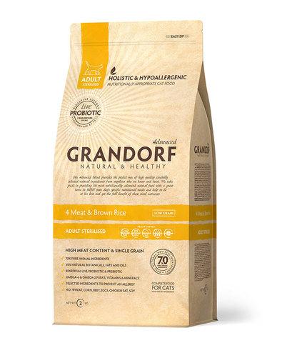 Grandorf Cat Probiotic Steril корм с пробиотиками для стерилизованных кошек (4 мяса с рисом) 2кг