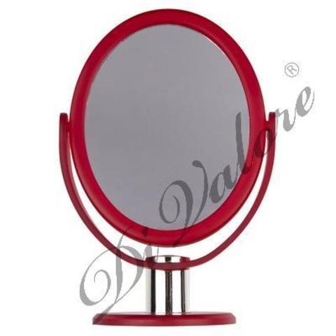 Di Valore Зеркало настольное овальное Красное матовое 114-028
