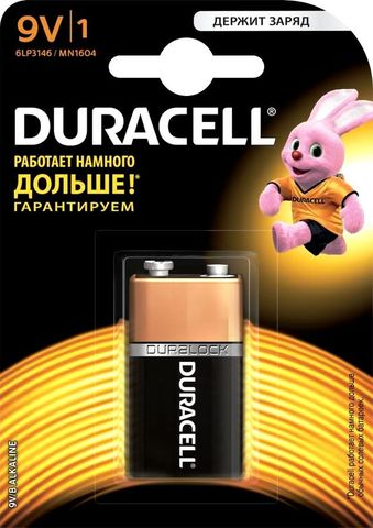 Э/п Duracell 6LR61 BL1   10/30