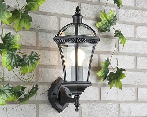 Уличный настенный светильник Capella черный