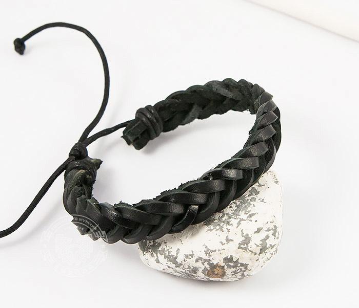 Spikes, Мужской плетеный браслет из черной натуральной кожи, «Spikes» dor flinger 00045 11 black df из натуральной кожи черного цвета