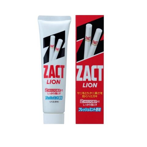 Зубная паста для устранения никотинового налета и запаха табака Lion Zact 150 гр в коробке