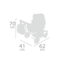 DeCuevas Коляска-трансформер для кукол 3 в 1 серии Мария 70см (80534)