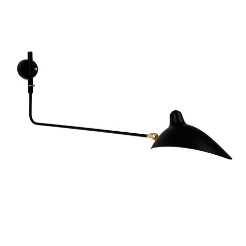 Настенный светильник AP1BD One Arm by Serge Mouille (черный)