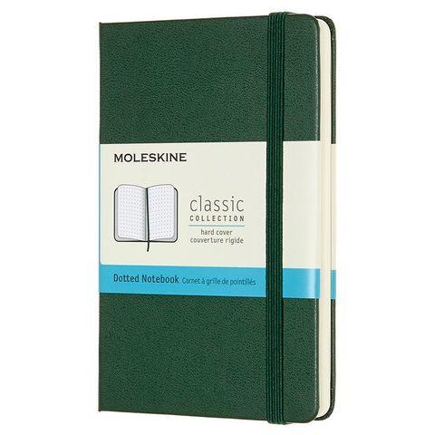 Блокнот Moleskine CLASSIC MM713K15 Pocket 90x140мм 192стр. пунктир твердая обложка зеленый