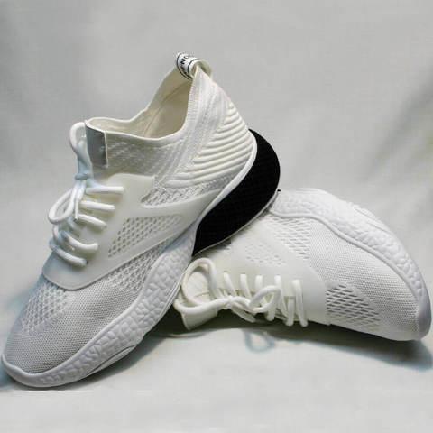 Walking shoe. Дышащие кроссовки женские белые. Текстильные кроссовки ElPasso-White.