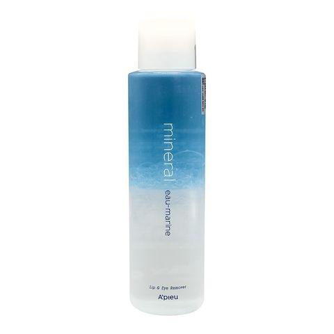 Двухфазное средство для снятия макияжа с губ и глаз с морской водой A'PIEU  Lip & Eye Wash Remover Eau-Marine 250ml