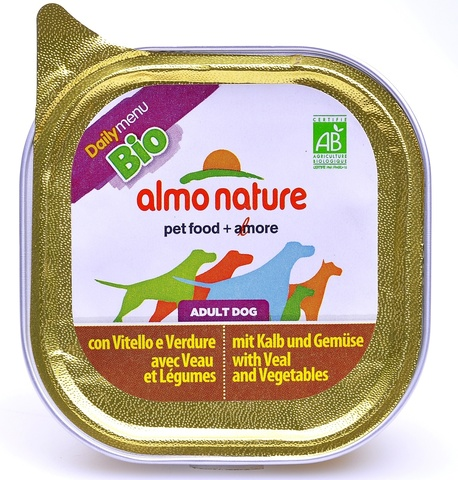 Консервы (ламистер) Almo Nature Daily Menu Bio - Pate Veal&Vegetables