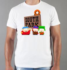Футболка с принтом мультфильма Южный парк (South Park) белая 002