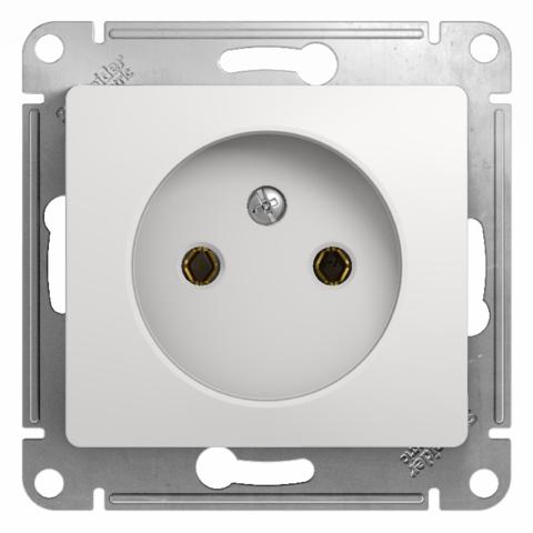 Розетка без заземления, 16А. Цвет Белый. Schneider Electric Glossa. GSL000141