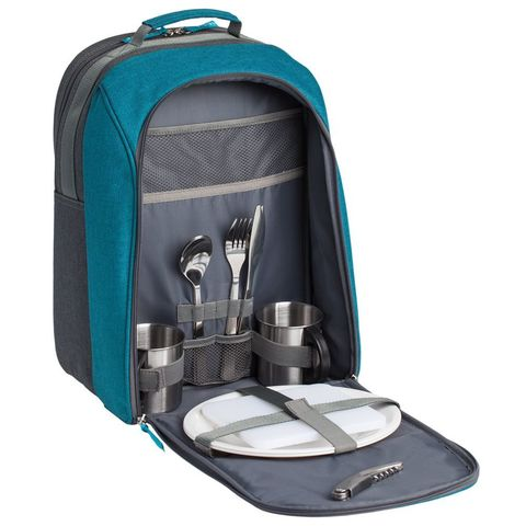 Lilla Fridag Picnic Set, grey with blue