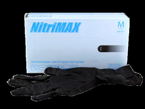 Нитриловые перчатки Нитримакс (черные) размер S
