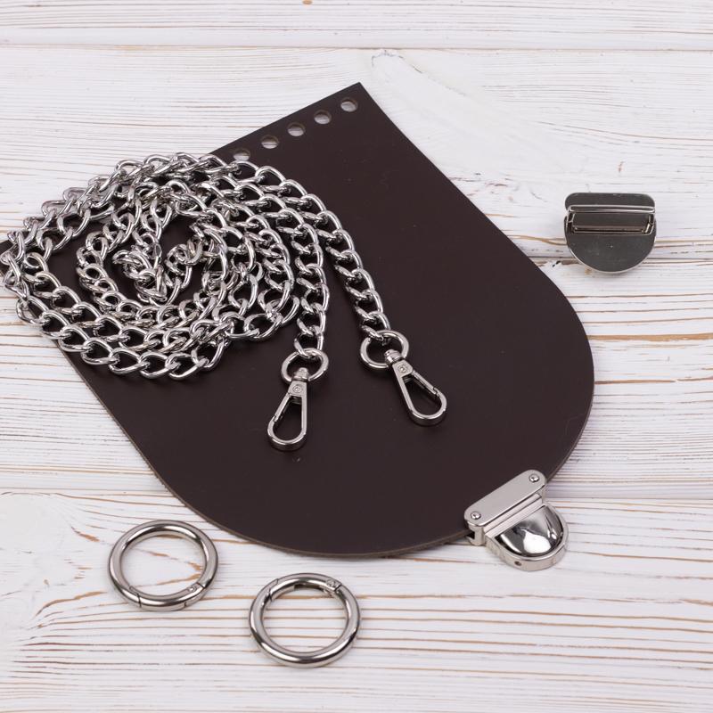 """Каталог Комплект для сумочки Орео """"Темно-коричневый"""" с цепочкой IMG_7141.jpg"""