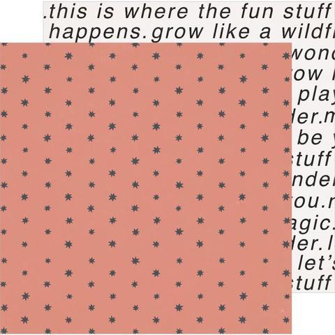 Лист двусторонней бумаги Magical Forest от Crate Paper -30х30см