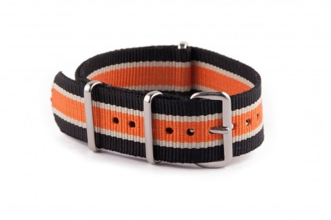 Nato Strap Black Beige Orange