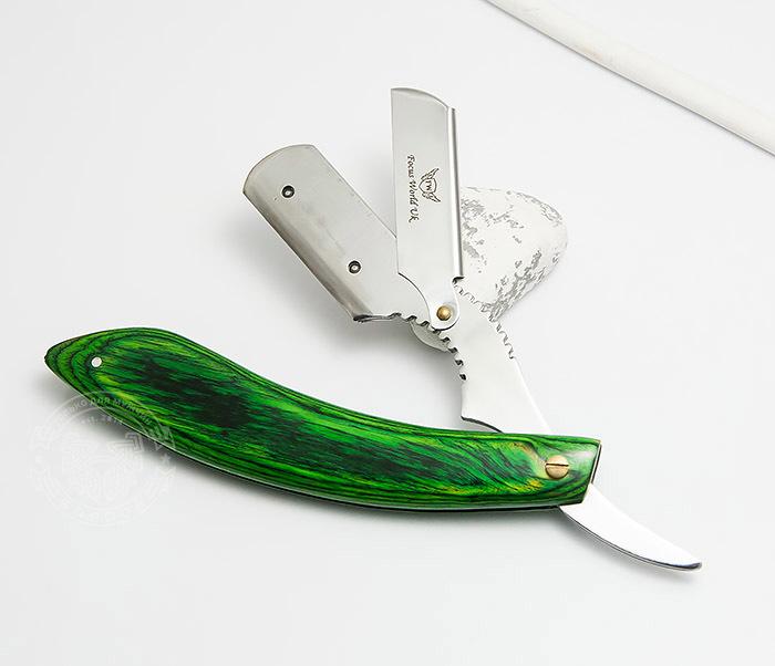 Фото - Бритва для сменных лезвий с ярко зеленой рукояткой из дерева опасная бритва с рукояткой из дерева