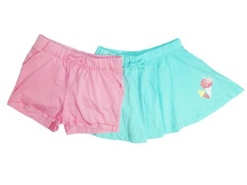 Комплект для девочки шорты + юбка Lupilu