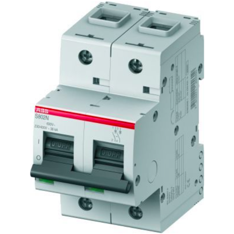 Автоматический выключатель 2-полюсный 20 А, тип D, 20 кА S802N D20. ABB. 2CCS892001R0201