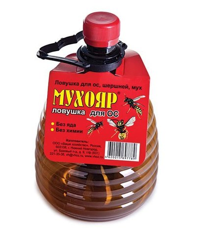 Мухояр - ловушка для ос, шершней, мух (бутылка)