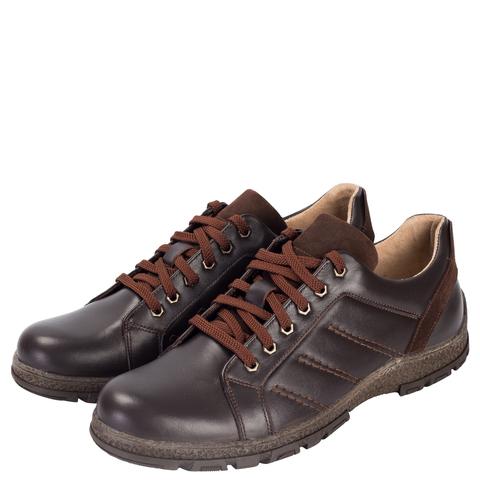 652316 Полуботинки мужские коричневые кожа. КупиРазмер — обувь больших размеров марки Делфино