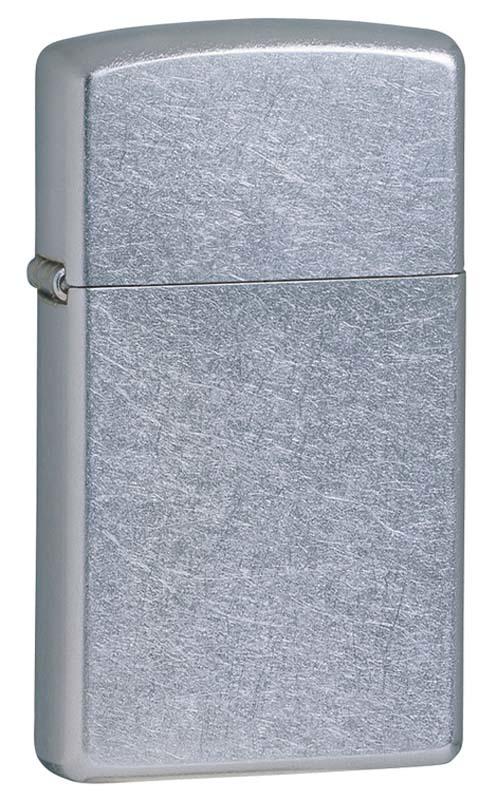Зажигалка ZIPPO Slim® с покрытием Brushed Chrome ZP- 1607