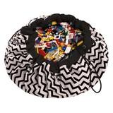 Мешок для хранения игрушек и игровой коврик Play&Go. Чёрный зигзаг