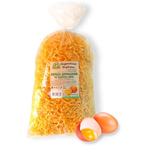 Лапша домашняя на куриных яйцах Андреевское подворье, 500г