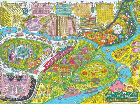 «Весёлые каникулы: город VS деревня», гигантская раскраска, формат А0