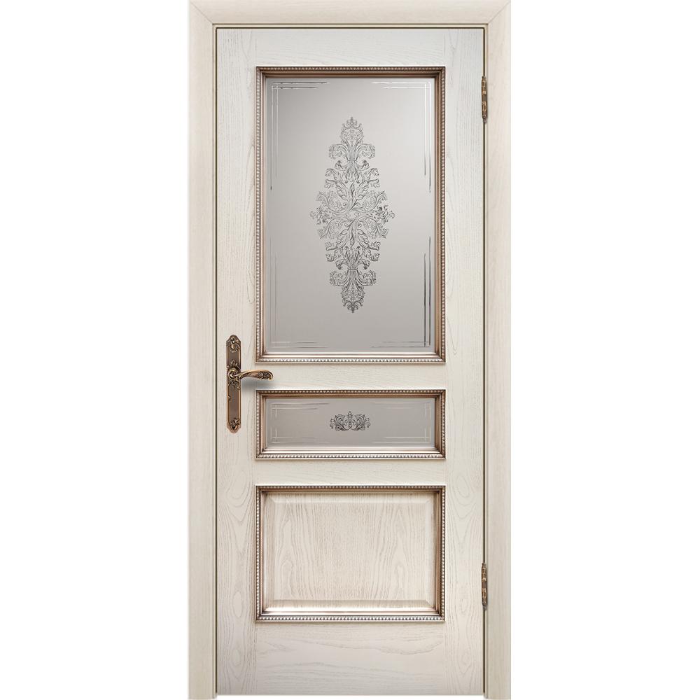 Ульяновские шпонированные двери Межкомнатная дверь шпонированная Дворецкий Альба ясень карамельный с патиной остеклённая alba-do-yasen-patina-dvertsov.jpg