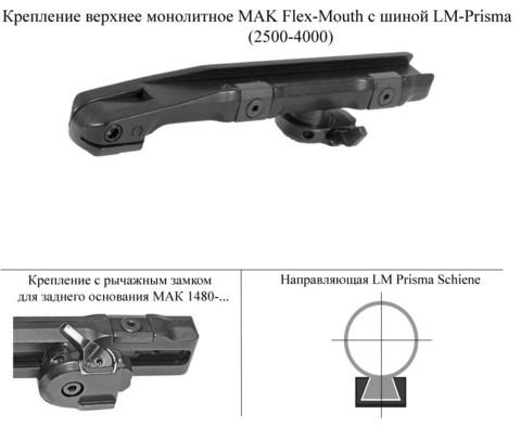 Крепление МАК на LM-Prisma (2500-4000)