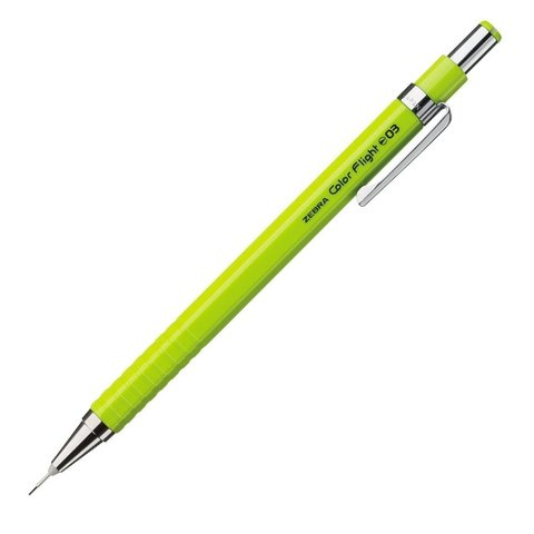 Чертёжный механический карандаш 0,3 мм Zebra Color Flight лаймовый
