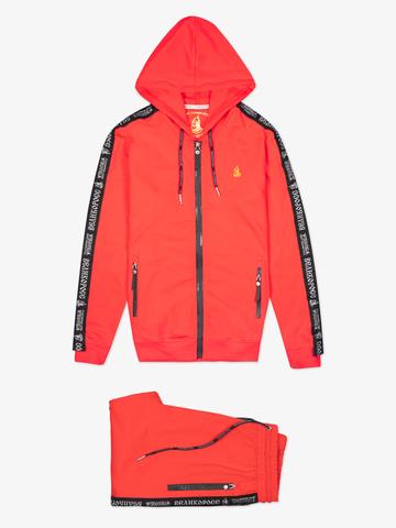 Спортивный костюм «Великоросс» красного цвета