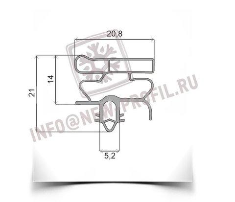 Уплотнитель 380*670 мм для холодильника Индезит TAN 5 V (морозильная камера) Профиль 010