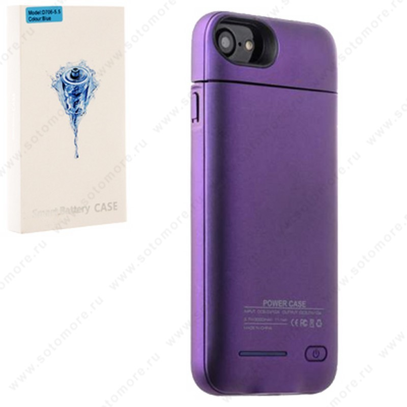 Аккумулятор чехол для Apple iPhone 8 Plus/ 7 Plus 3000 мАч 1.0A D706 фиолетовый