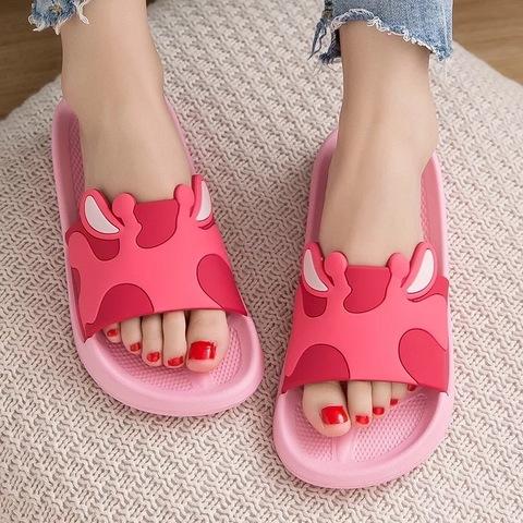 Тапочки жираф розовые
