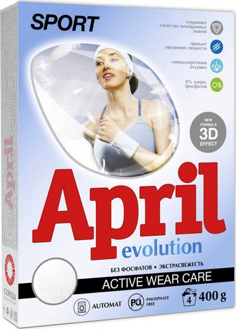 Сонца April Стиральный порошок Evolution sport & color Автомат 400г