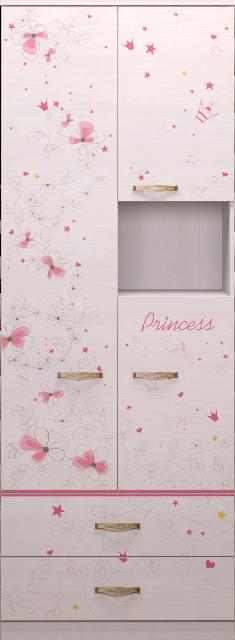 Шкаф комбинированный 14 Принцесса-2