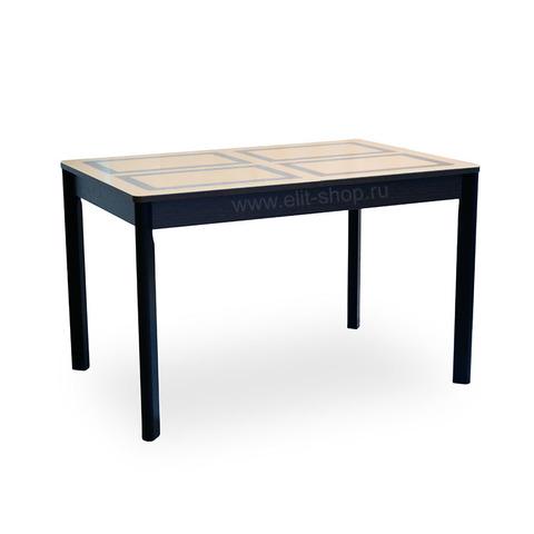Стол НИЦЦА-2 Бежевый / рис. 1 / подстолье венге / опора №9 дерево / 120(160)х80см