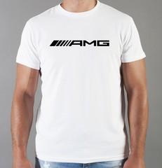 Футболка с принтом Mercedes-Benz (Мерседес-Бенц) белая 08